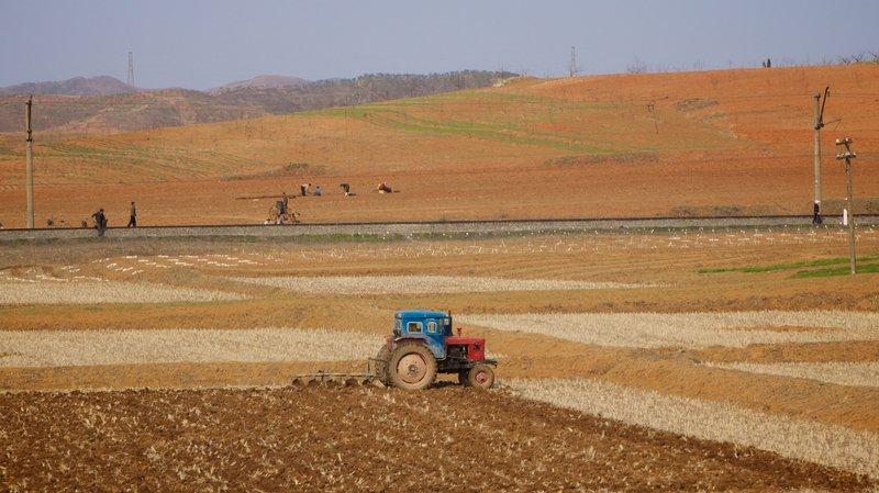 Red soil in North Korea