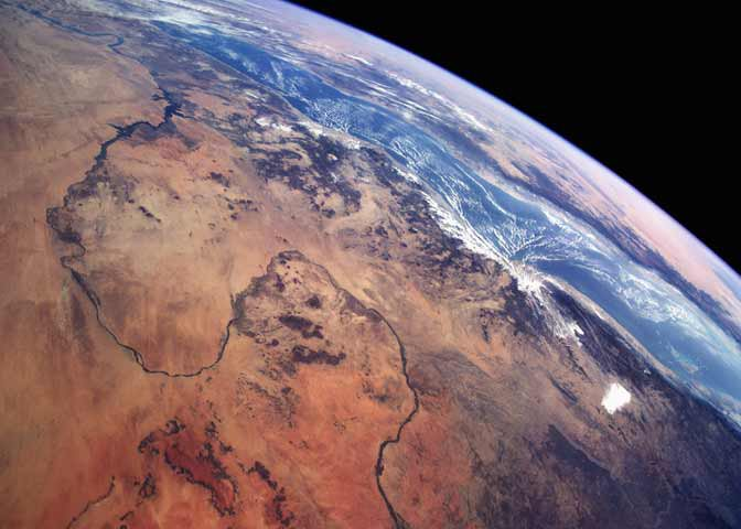 view of of Nile from space