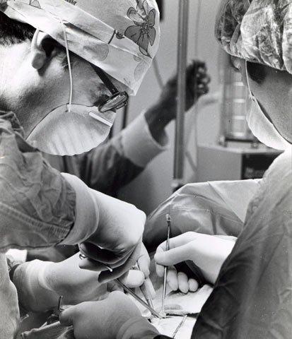 Folkman during surgery