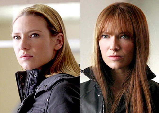 Anna Torv plays Olivia Dunham in Fringe
