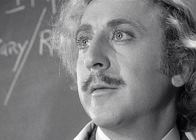 Gene Wilder in Young Frankenstein