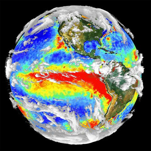 3-D visualization of 1997-98 El Nino