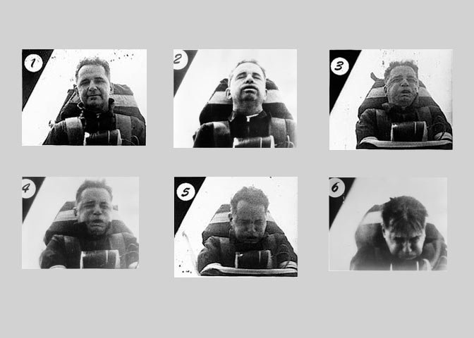 Film strip of man