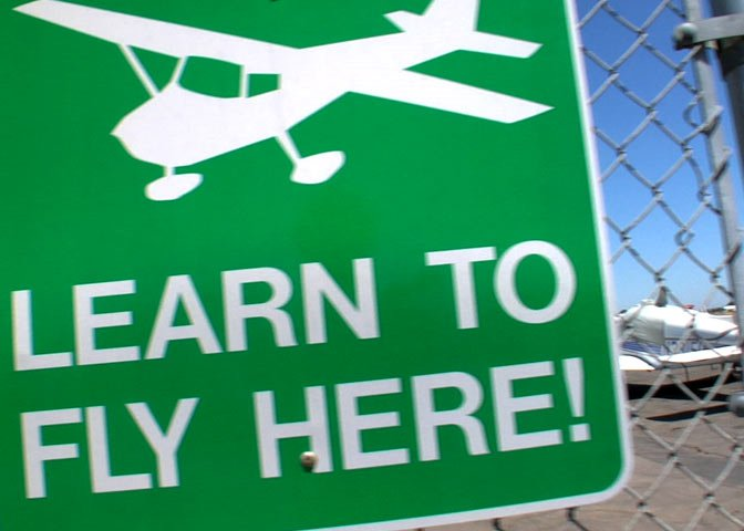 sign for flying lessons