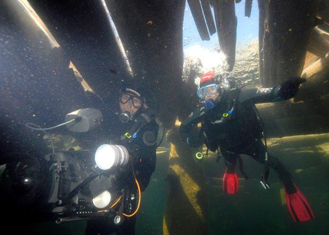 camera crew underwater