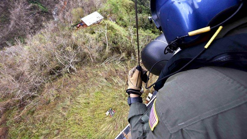 Coast Guard crews deliver supplies to remote location in Puerto Rico