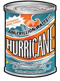 cartoon of hurricane in a can