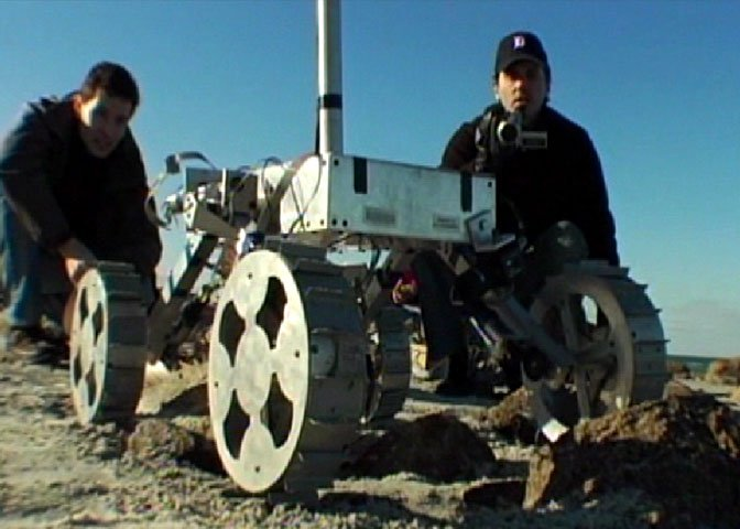 Karl Iagnemma with robot