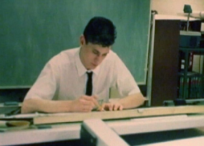 Karl Iagnemma in college, drafting