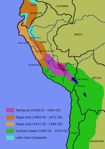 map of Inca expansion