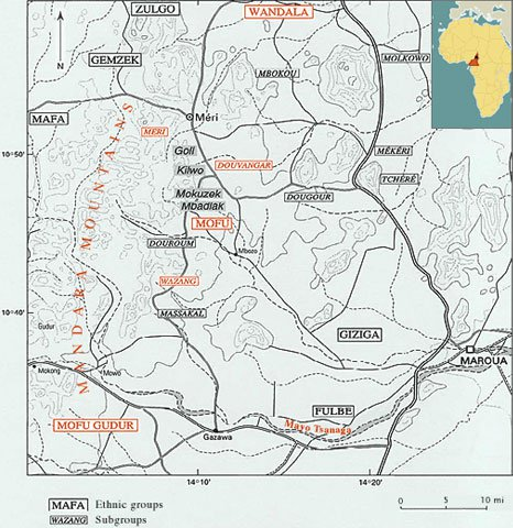 Map, Mandara Mountains