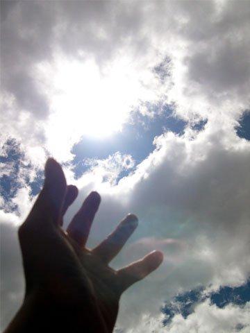 hand in sun