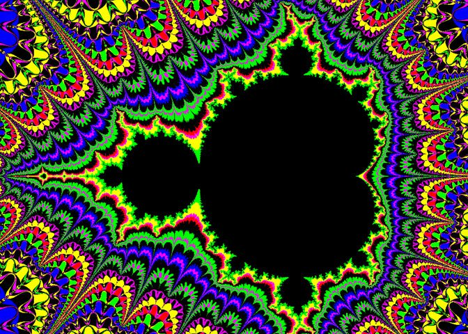 rainbow and black fractal