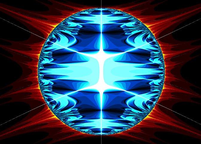 blue circle fractal