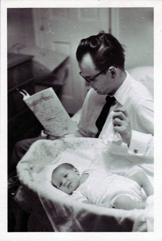 Hugh Everett and infant Mark
