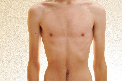 thin male torso