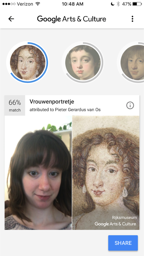 Google's Arts and Culture App Turns You Into a Work of Art