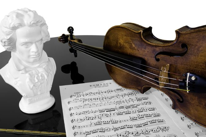 Beethoven bust and music