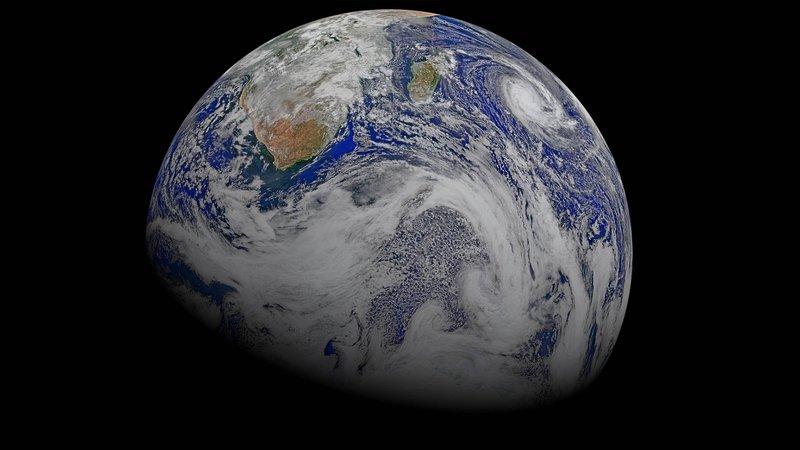 El Polvo del Sahara en tiempo real (globo)