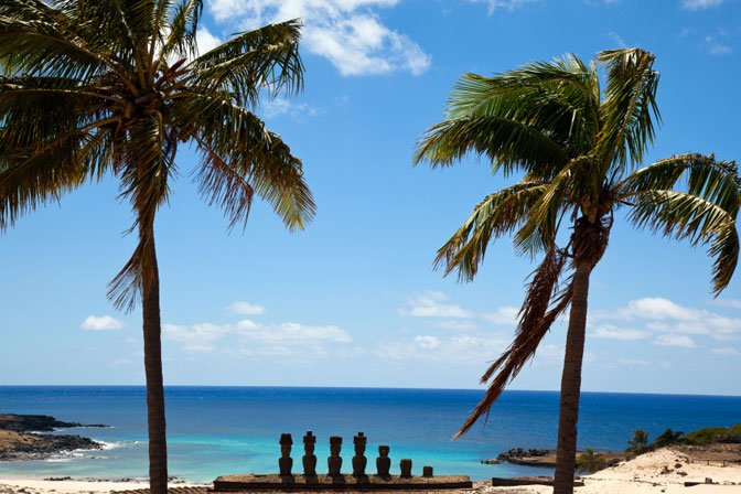 Easter Island statues & beach