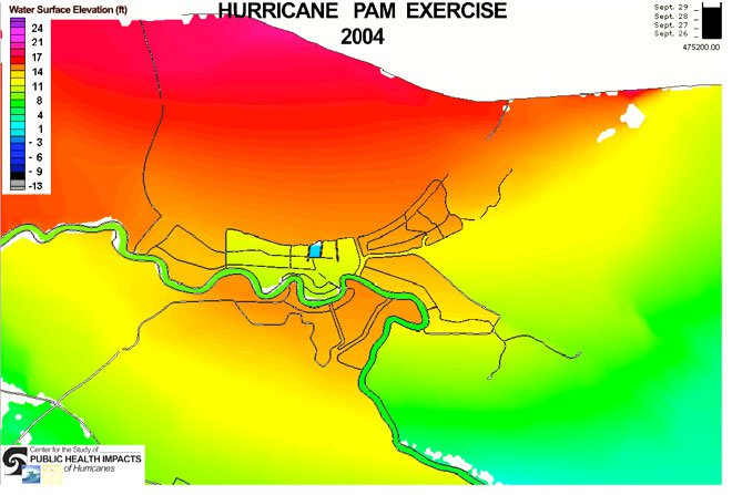 PAM Hurricane simulation graphic