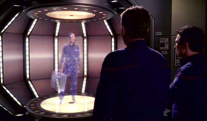 Star Trek teleporting scene
