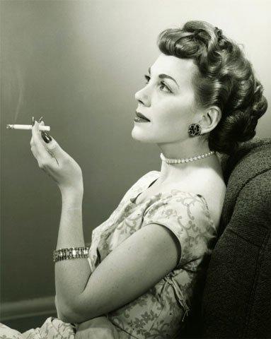 woman smoker B&W