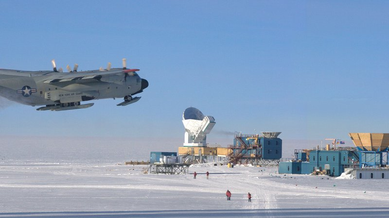 South Pole takeoff
