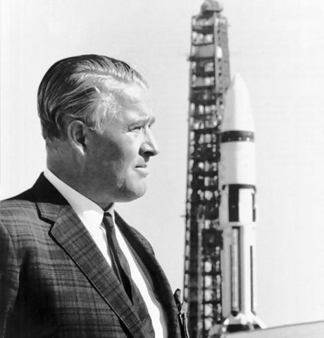 Wernher von Braun before Saturn rocket