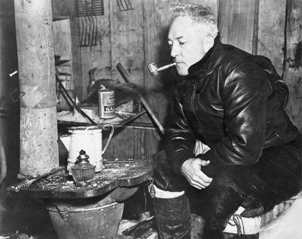 Richard Byrd in hut