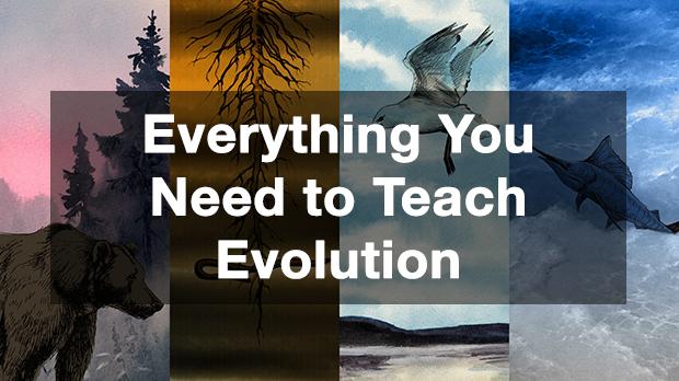 teach evolution poster image
