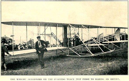 Wright flyer - period postcard
