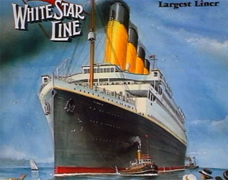White Star Line poster of Titanic