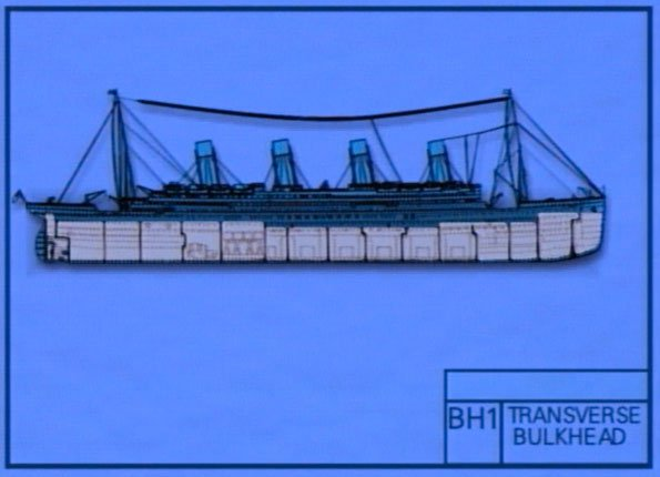 Britannic blue print of hull