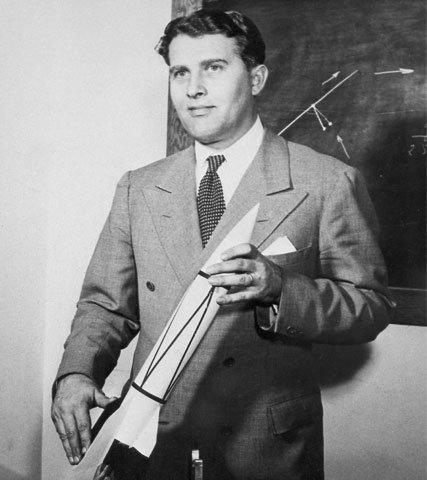 Von Braun with V-2