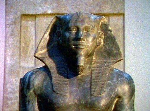 Khafre stone statue