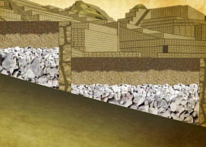 Machu Picchu drainage system diagram