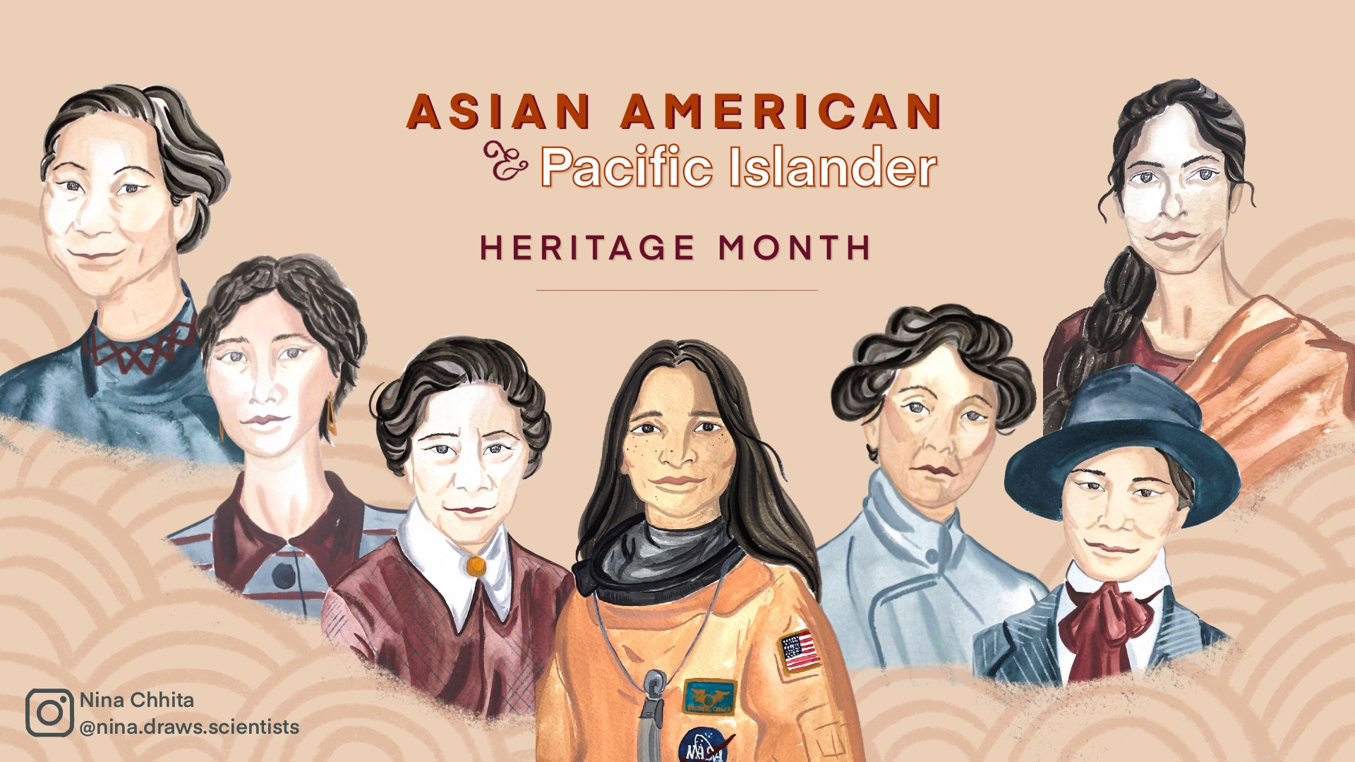 illustration of Asian and Pacific Islander scientists