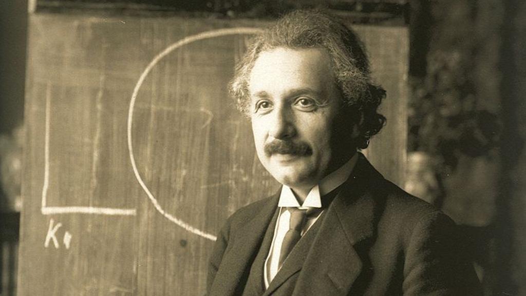 Einstein at Chalkboard