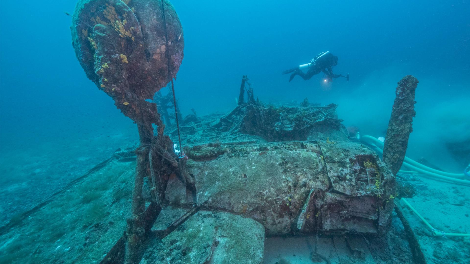 B-24 bomber underwater