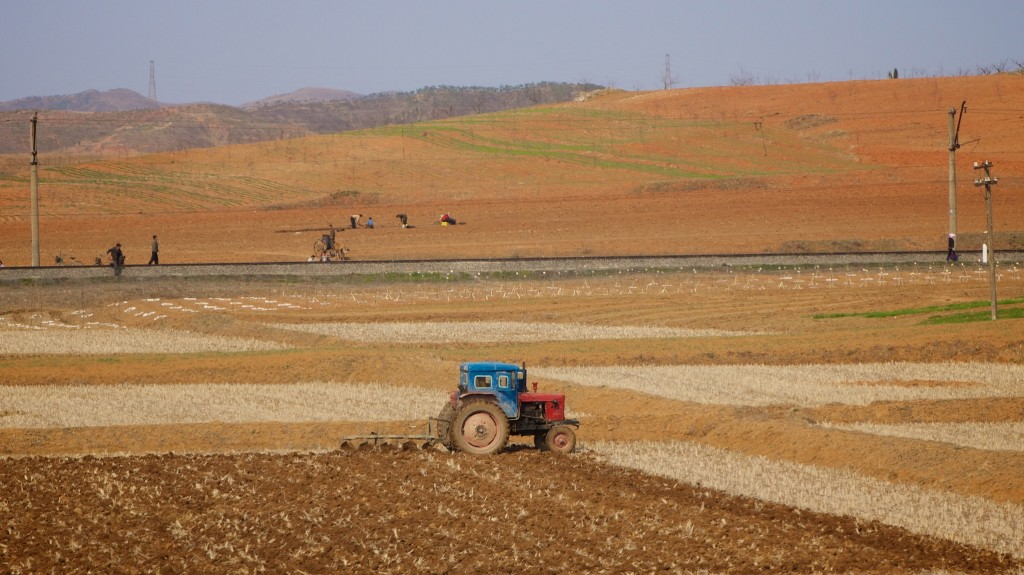 Red soil in North Korea