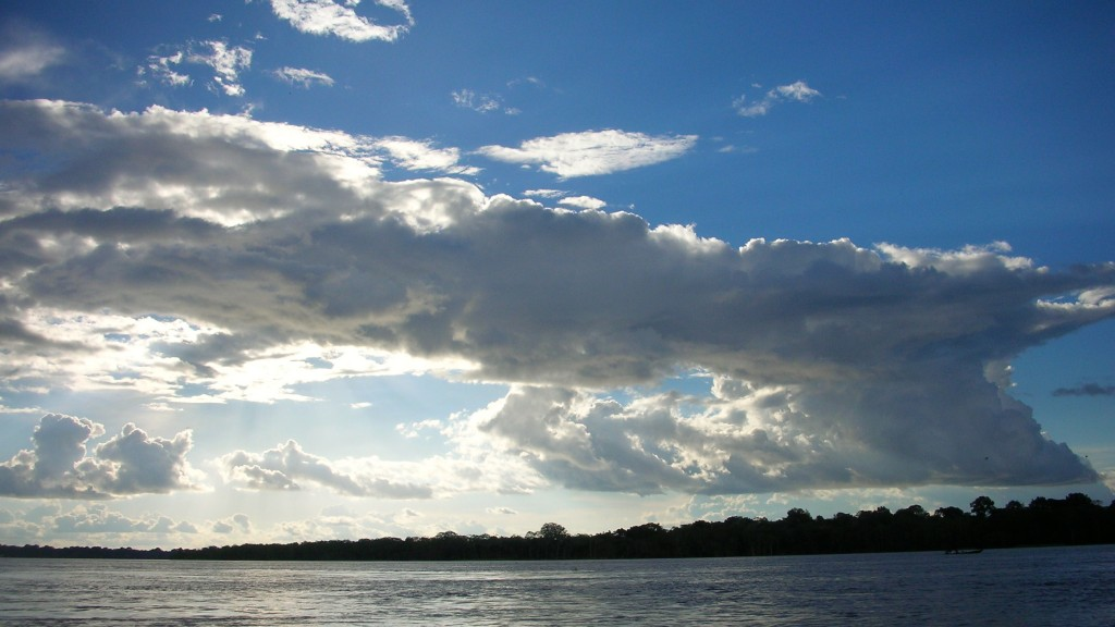 Cumulonimbus cloud over the Amazon