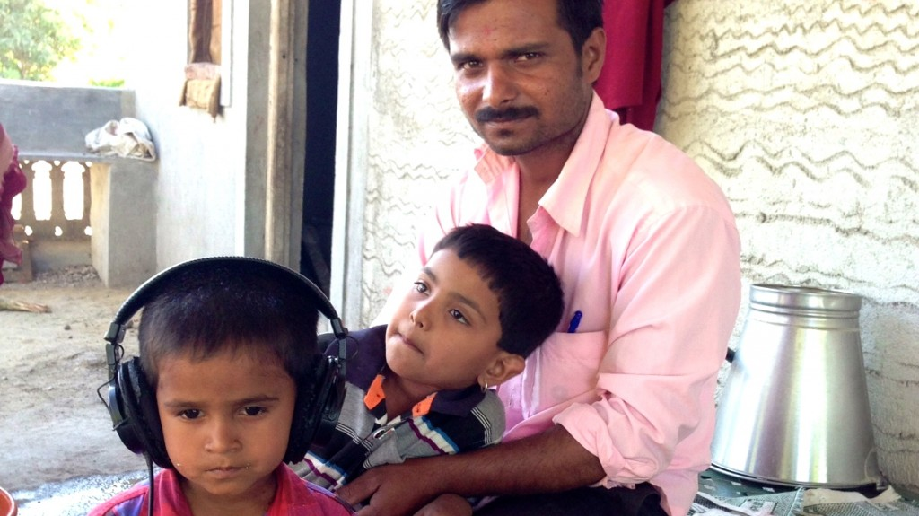 Matale kids with their father