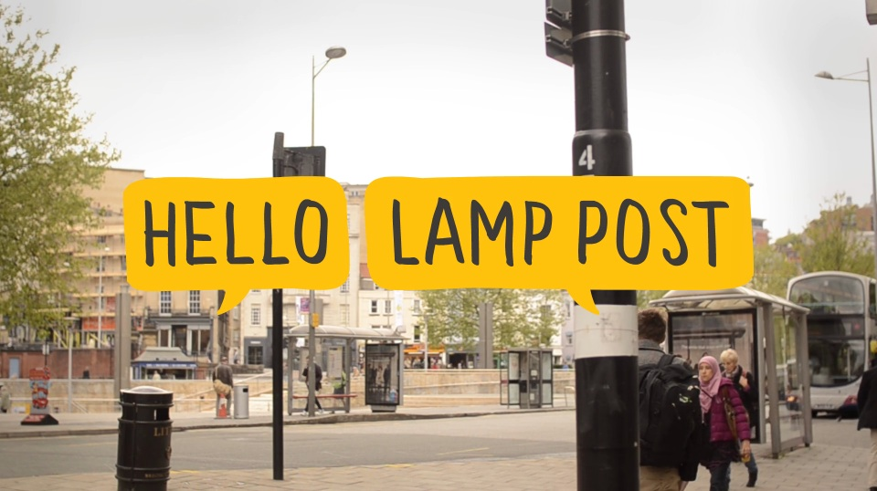hello lamp post