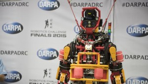 Team Nedo-Jsk  posed for a group photo in preparation for the DARPA Robitics Challenge on June 2, 2015 in Ponoma, California. JSK lab. is a laboratory for robotics and information science at Mechano-Infomatics Department, Graduate School of Information Science and Technology, Univ. of Tokyo.  (Photo By: Sun L. Vega, DARPA)