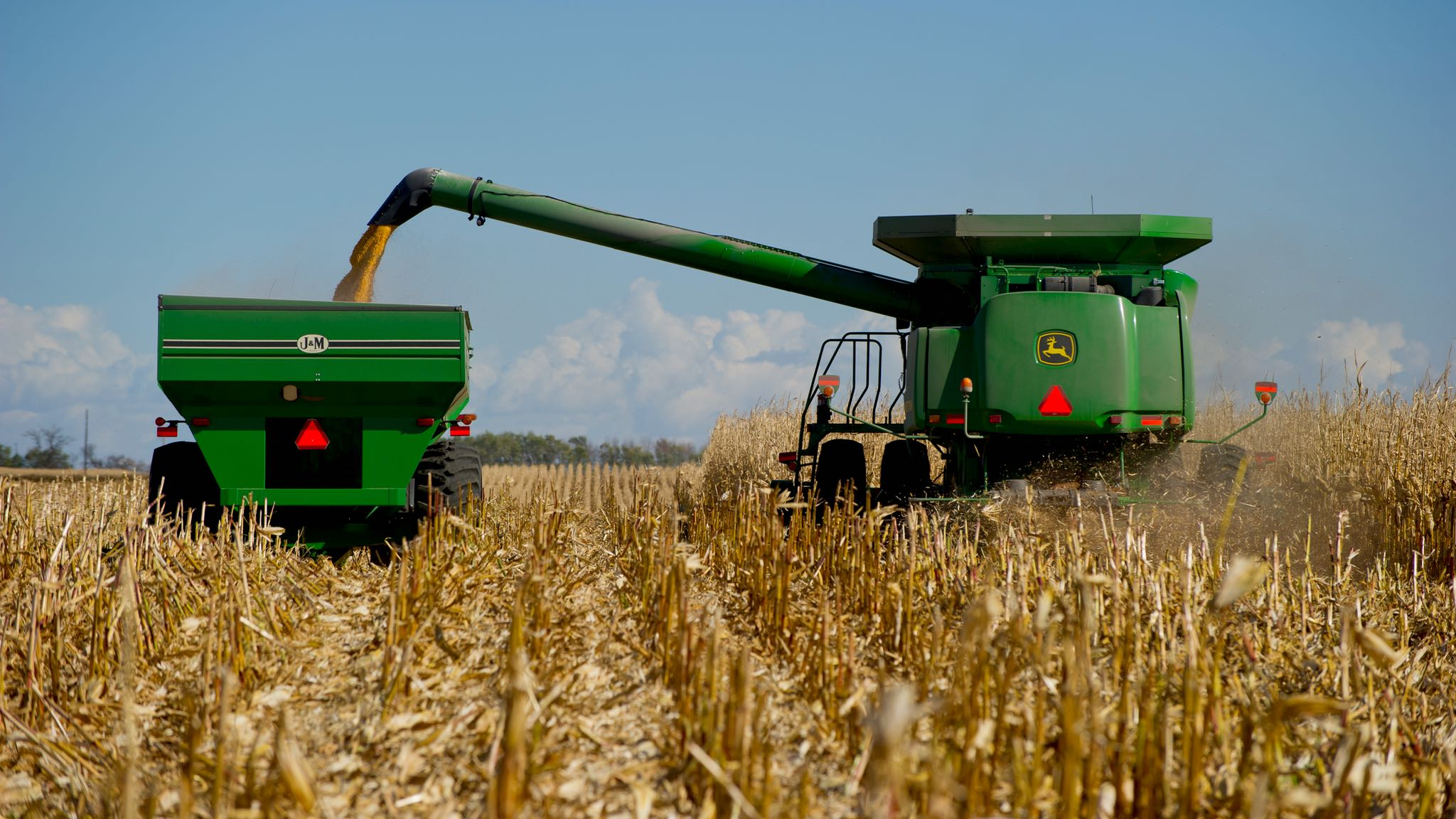 corn-harvester