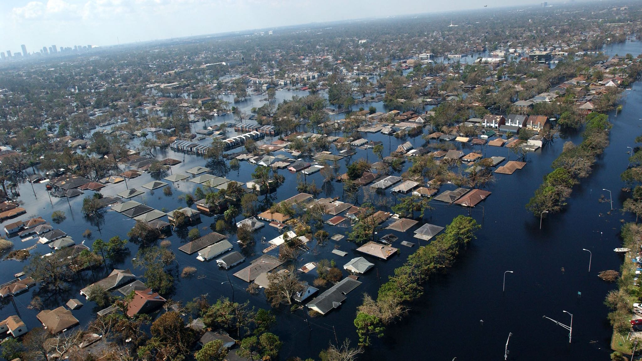 New Orleans, LA-September 8, 2005- Neighborhoods and roadways throughout the area remain flooded as a result of Hurricane Katrina. Jocelyn Augustino/FEMA