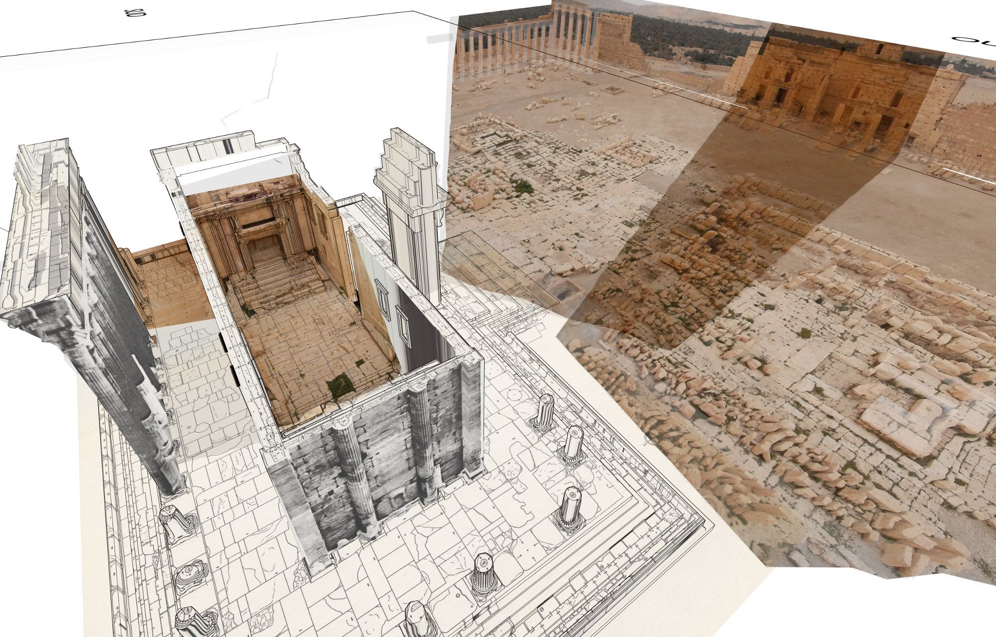 Restitution 3D du Temple de Bel_Iconem
