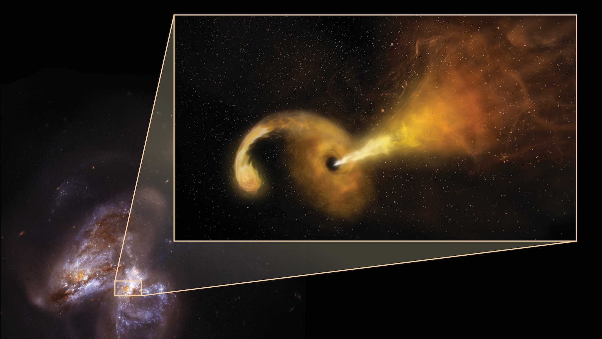 Extraordinary Star-Swallowing Event Aids Detection of Mid ...