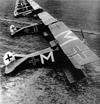 Row of German planes at airfield